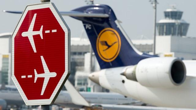 In aviun da la Lufthansa.