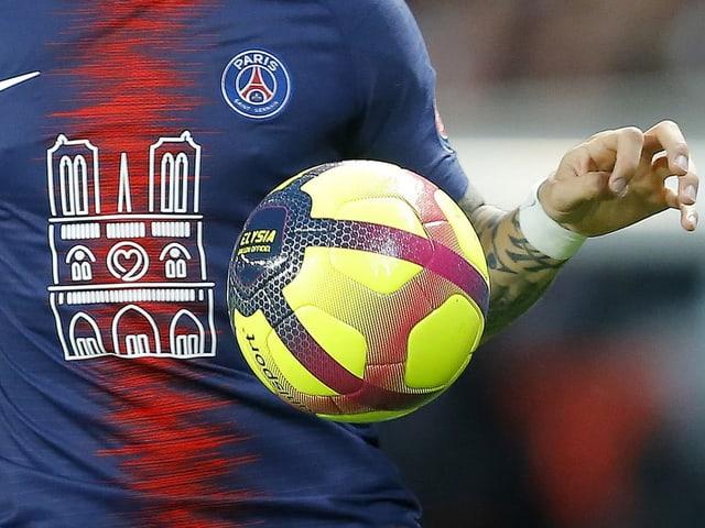 Die Spieler liefen gegen Monaco mit besonderen Trikots auf.