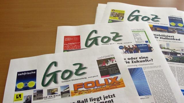 Titelblätter der «Goz»