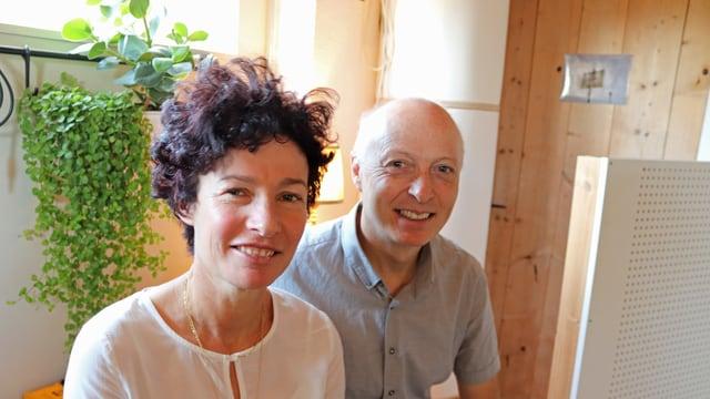 Rita und Walter Kaufmann-Kunz stellen ihr Wohnzimmer für ein Konzert zur Verfügung.