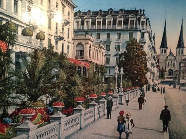 Alte Postkarte in Farbe.