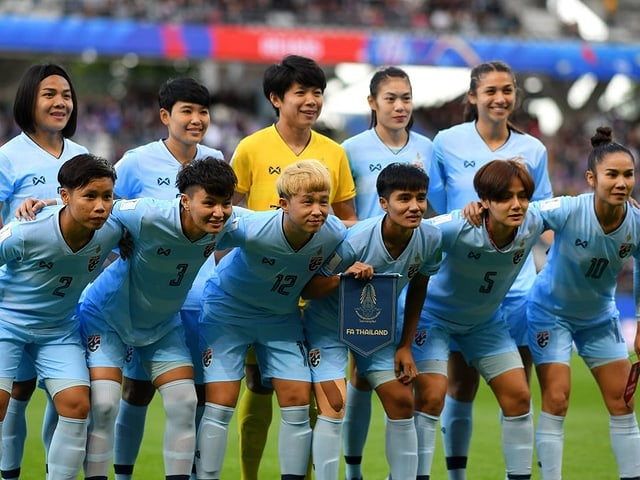Die Fussball Mannschaft der Thailänderinnen