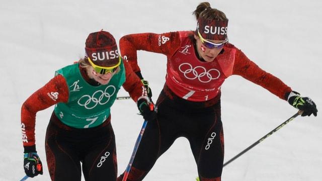 Nadine Fähndrich e Laurien van der Graaff.