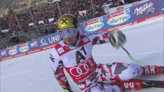 Marcel Hirscher am Boden