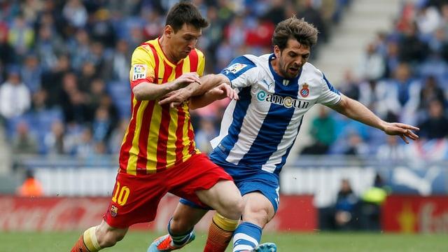 Lionel Messi und Victor Sanchez