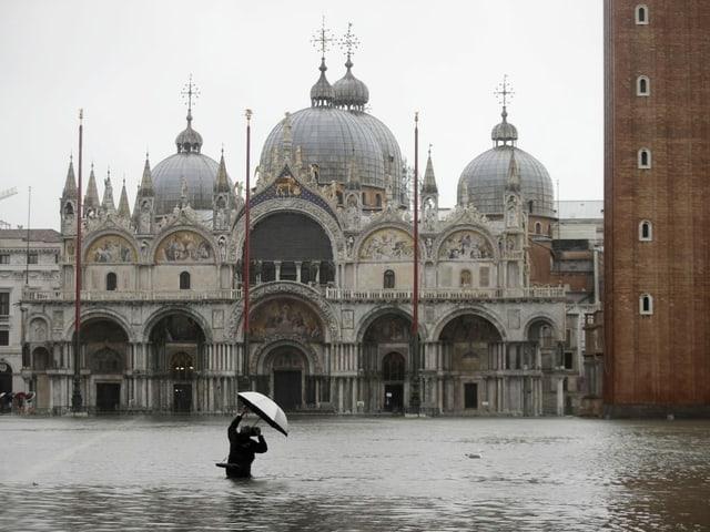 Markusplatz in Venedig.
