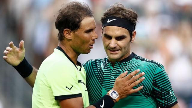 Nadal und Federer.
