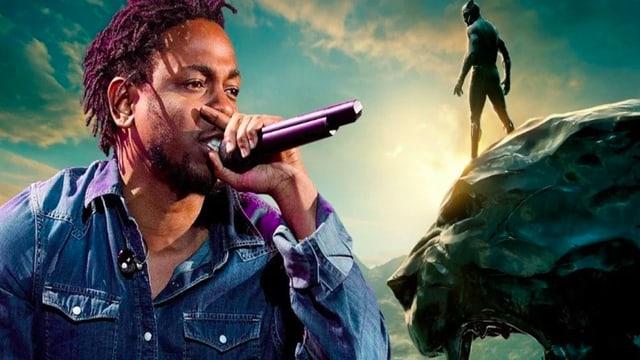 Collage von Kendrick Lamar und Black Panther