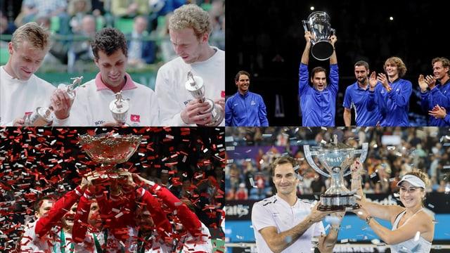 World Team Cup 1996 mit Hlasek und Rosset, Laver Cup 2017 mit Federer, Hopman Cup 2018 mit Federer und Bencic, Davis Cup 2014 mit der Schweiz.
