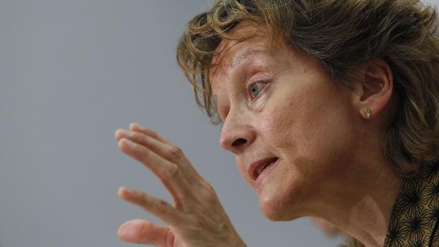 La ministra da finanzas svizra Eveline Widmer Schlumpf.