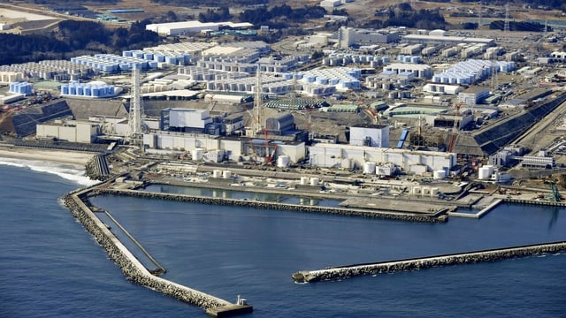 Luftbild von Fukushima