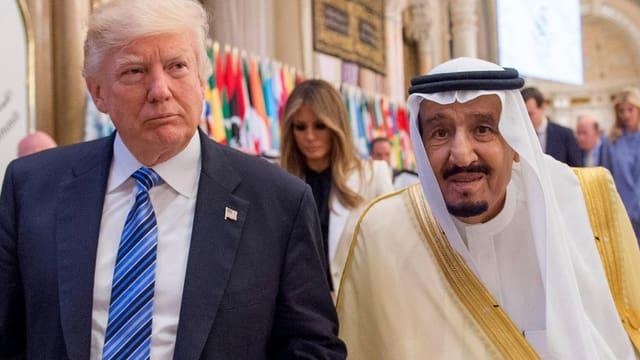 Trump und Salman.
