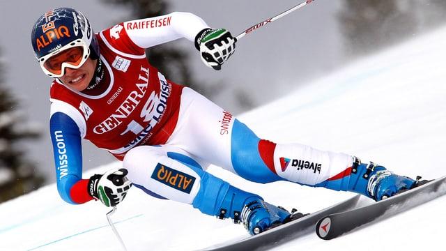 Dominique Gisin konnte mit der Spitze noch nicht ganz mithalten.