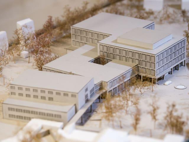 Modell des neuen Spitals