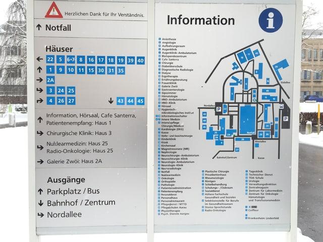 Campus-Schild