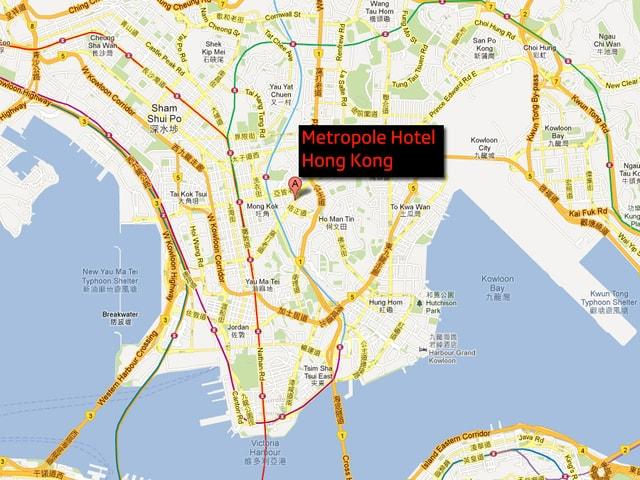 Kartenausschnitt von Hong Kong