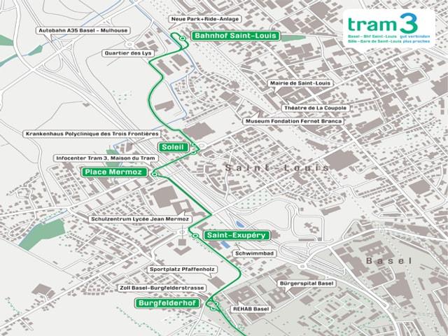 Plan mit Streckenführung