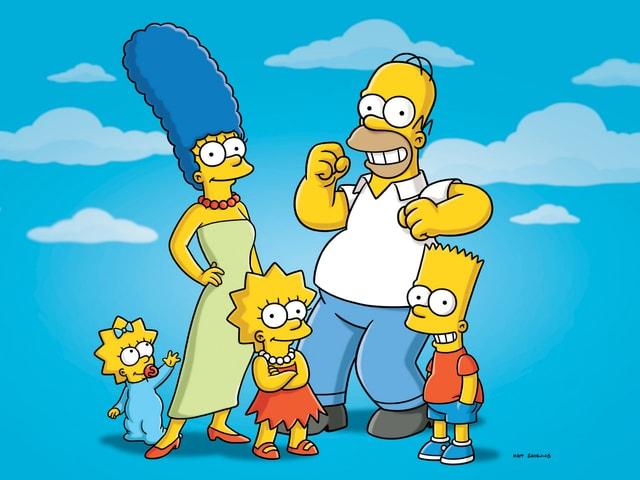 Die gelbe Familie Simpsons.