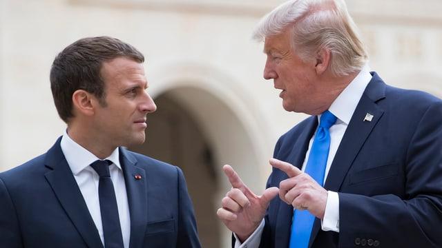 Trump mit Macron.