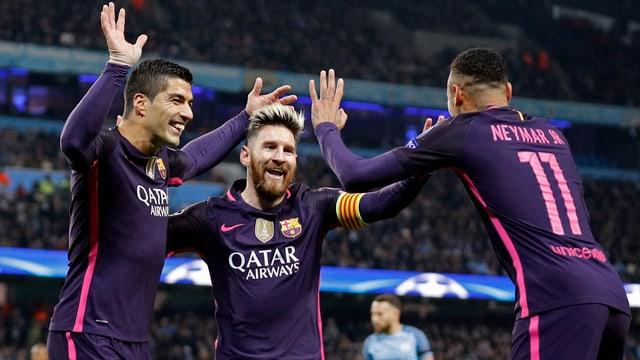 Lionel Messi, Luis Suarez und Neymar sollen für Barça den Unterschied ausmachen.