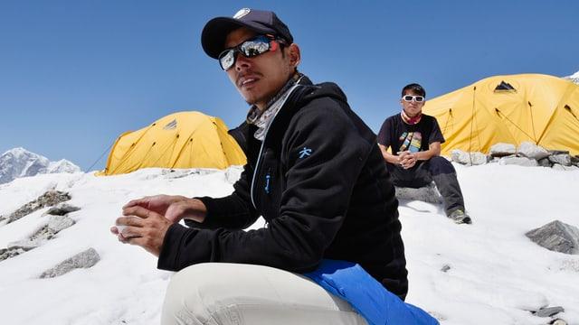 Norbu Sherpa im Basislager