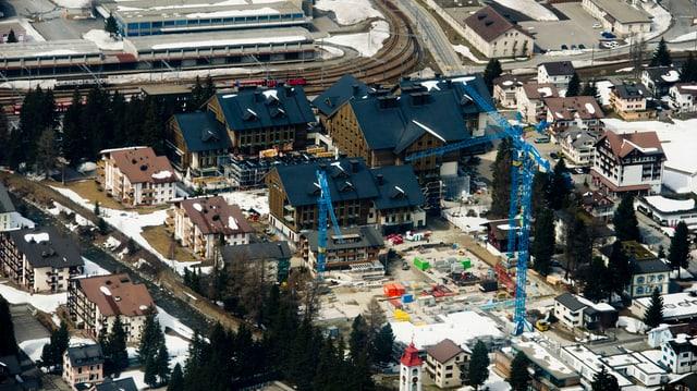 Die Baustelle des Luxusferienresorts von Samih Sawiris in Andermatt