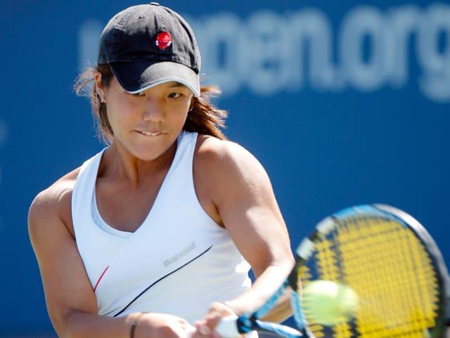 Kristie Ahn bei ihrem US-Open-Debut.