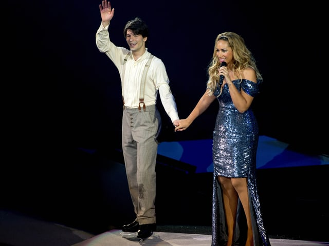 Stéphane Lambiel mit Leona Lewis.