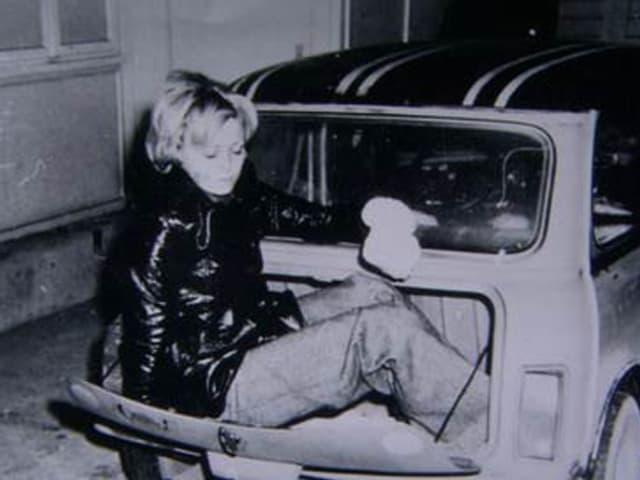 Christa Feurich versteckte sich im Kofferraum.
