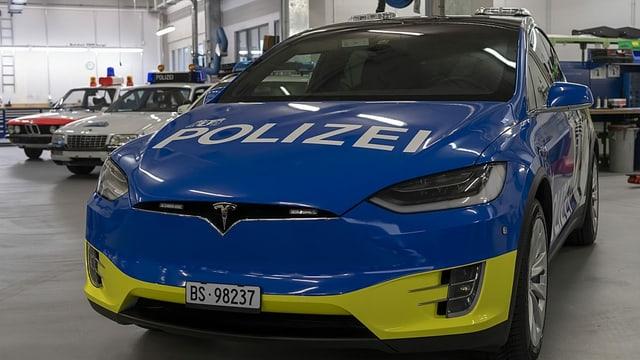 Die Tesla-Flotte der Basler Polizei