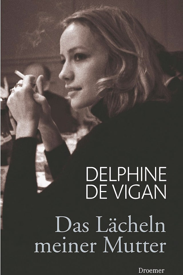 Das Cover des Buches mit dem Bild der Mutter im seitlichen Profil, Zigarette rauchend.