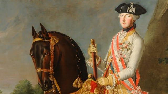 Gemälde: Kaiser Joseph II. hoch zu Pferd