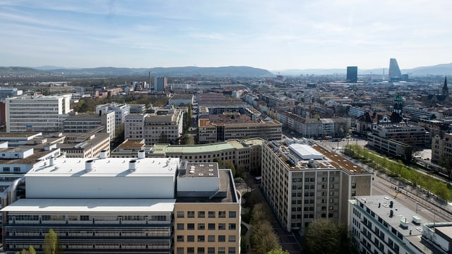 Blick aufs Klybeck-Quartier.