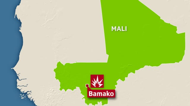 Carta dal stadi Mali cun nudà il lieu Bamako.