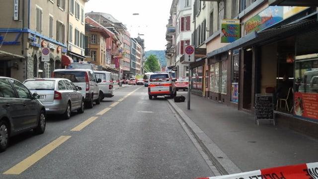 Für den Verkehr gesperrt wegen der Schiesserei: Die Zürcher Langstrasse.