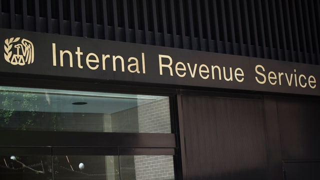 Die Anschrift «Internal Revenue Service» in New York.