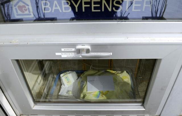 Das Babyfenster des Spitals Einsiedeln