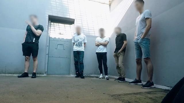 Eine Gruppe Inhaftierter in Weissrussland.