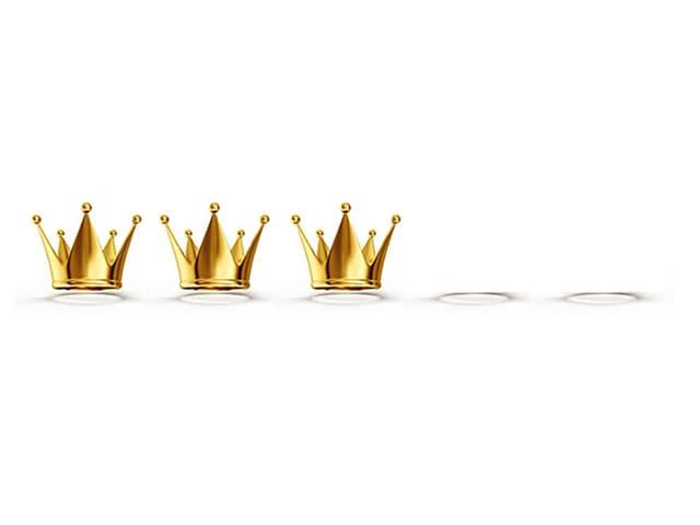 Grafik mit drei Kronen