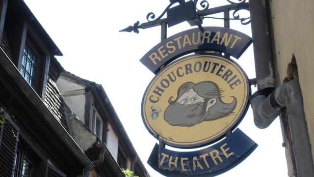 Tavla dal Teater da la Choucroterie a Strassburg