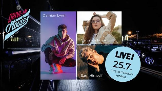 Der Konzertabend mit Damian Lynn, Veronica Fusaro und Sam Himself.