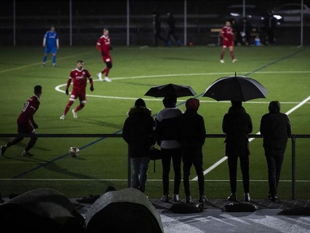 Als noch Fussball gespielt wurde: Trainingsspiel der 2. Liga interregional zwischen dem FC Mels und dem FC Weesen am 6. März 2020.