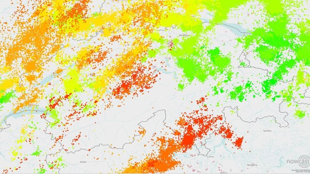 Karte mit Blitzen