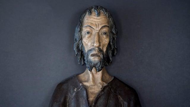 Holzfigur von Bruder Klaus.