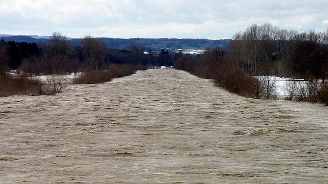 Hochwasser Thur Thurgau