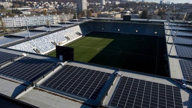 Das neue Stadion von Lausanne-Sport