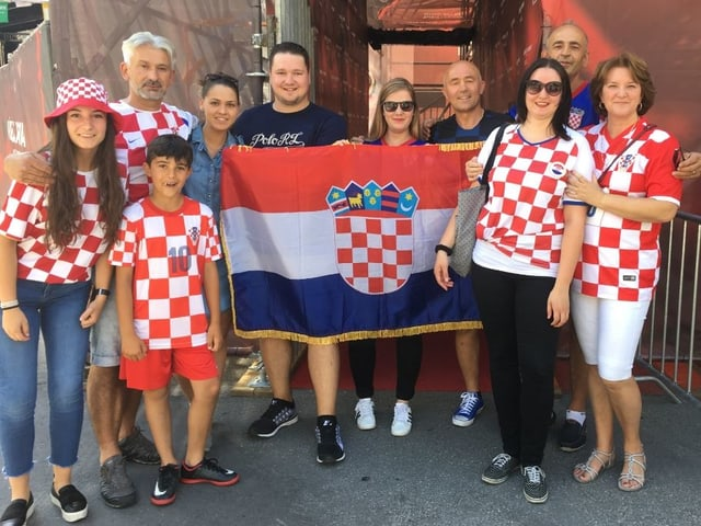 Gruppa da fans dalla Croatia.
