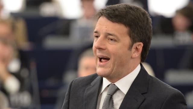 Matteo Renzi bei einer Rede