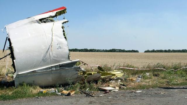 Ein Wrackteil der abgestürzten MH17