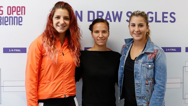 Rebeka Masarova, Viktorija Golubic und Belinda Bencic.
